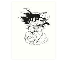 Chibi Son Goku Art Print