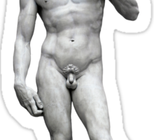 Michelangelo's David - Christmas Edition Sticker