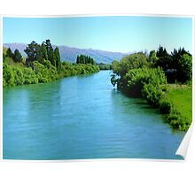 Turquoise Waters! - Clutha River - NZ Poster