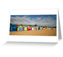 Beautiful Brighton Bathing Boxes Greeting Card