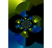 blue & gold chromed Photographic Print