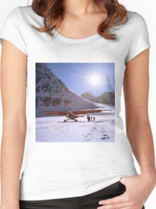Glacier Landing Women's Fitted Scoop T-Shirt