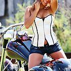 Sandra with bike by Tom Miles