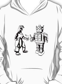 Robot and Godzilla drinking T-Shirt