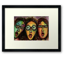 Girls night at the movies Framed Print