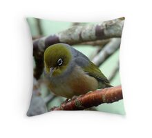 Monday Blues! - Silvereye - NZ Throw Pillow