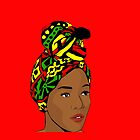 African woman with a turban - Pop art by Zumra M. Waheed