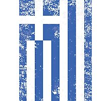 Greece Flag Photographic Print