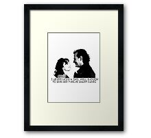 I never liked a girl well enough to give her twelve sharp knives.  Framed Print