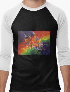 """Explosion"" original artwork by Laura Tozer Men's Baseball ¾ T-Shirt"