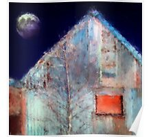 Moon and Silver Shed Poster