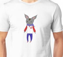 rabbit in letterman jacket Unisex T-Shirt