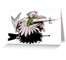 Fighting For Peace Greeting Card