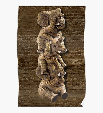 ✿♥‿♥✿ELEPHANTS...SEE NO EVIL..HEAR NO EVIL,SPEAK NO EVIL PICTURE/CARD✿♥‿♥✿ Poster