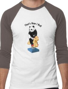 Panda Bear That's How I Roll Men's Baseball ¾ T-Shirt