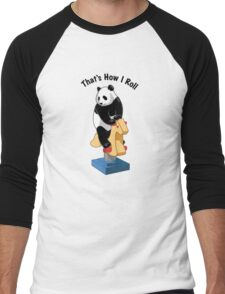 Panda Bear That's How I Roll Men's Baseball ¾ T-Shirt