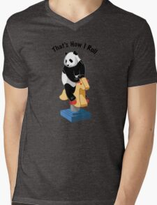 Panda Bear That's How I Roll Mens V-Neck T-Shirt
