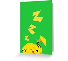 electric sleep Greeting Card