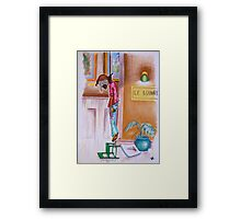 Oh, to hang in the Louvre. . . Framed Print