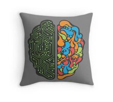 Techno Mind Throw Pillow