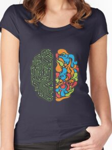 Techno Mind Women's Fitted Scoop T-Shirt