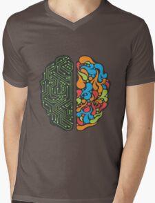 Techno Mind Mens V-Neck T-Shirt