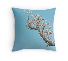 Frosty Fingers Throw Pillow