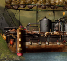 Steampunk - Airship - The original Noah's Ark Sticker