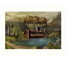 Steampunk - Airship - The original Noah's Ark Art Print
