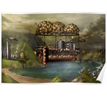 Steampunk - Airship - The original Noah's Ark Poster