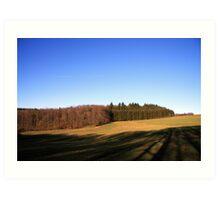 Open field in the Ardennes Art Print