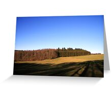 Open field in the Ardennes Greeting Card