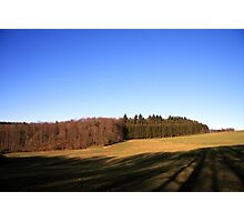 Open field in the Ardennes Photographic Print