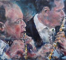 Playing The Flute - Music Art Gallery by Ballet Dance-Artist