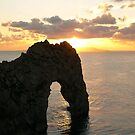Durdle Door Sunset Orange by qshaq