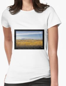 Antelope Island from Lake Point - Utah nature landscape Womens Fitted T-Shirt