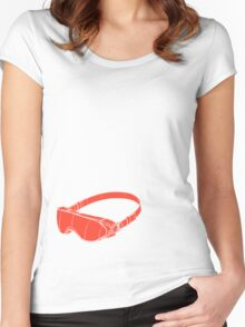 Red Goggles Women's Fitted Scoop T-Shirt