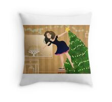 Balancing the Holidays Throw Pillow