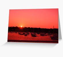 Martha'a Vineyard at sunset Greeting Card