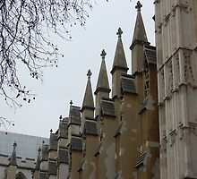 Detail of Westminster Abbey, London by Pat Herlihy