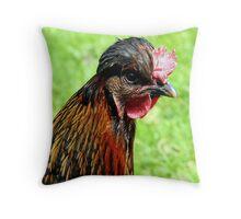 Has Anyone Seen My Comb? - Hen - NZ Throw Pillow