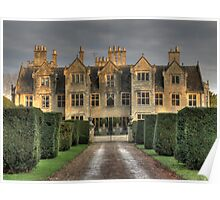 Shipton Manor in the evening light  Poster