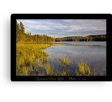Governor Dern Lake - Utah nature landscape print Canvas Print