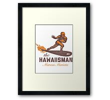 "The ""Hawaiisman"" Trophy Winner Marcus Mariota  Framed Print"