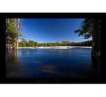 Lilly Lake Iced in - Utah nature landscape  Photographic Print