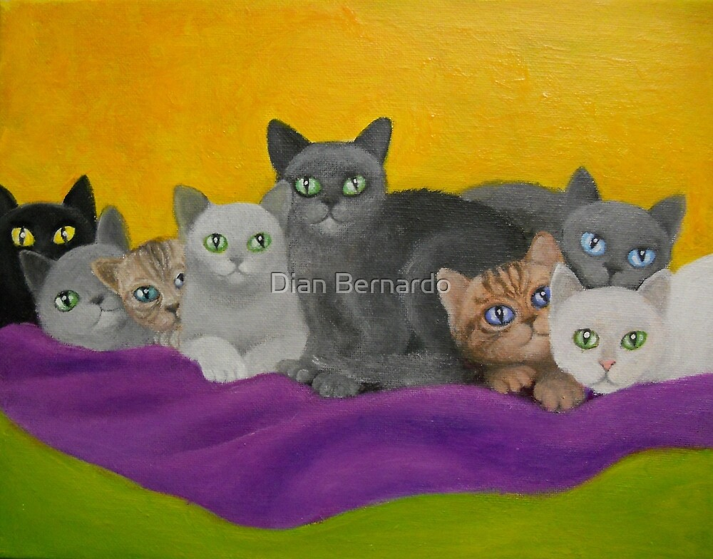 KITTENS ON A BLANKET by Dian Bernardo