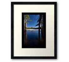 Lilly Lake Iced in - Utah nature landscape  Framed Print