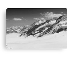 Top of Europe - Black Canvas Print