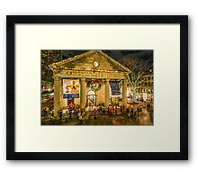 Quincy Market at Christmas Framed Print