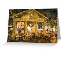 Quincy Market at Christmas Greeting Card
